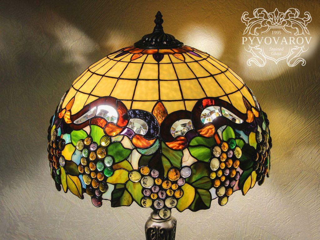 Витражный светильник Тиффани «Виноград» #L-0226