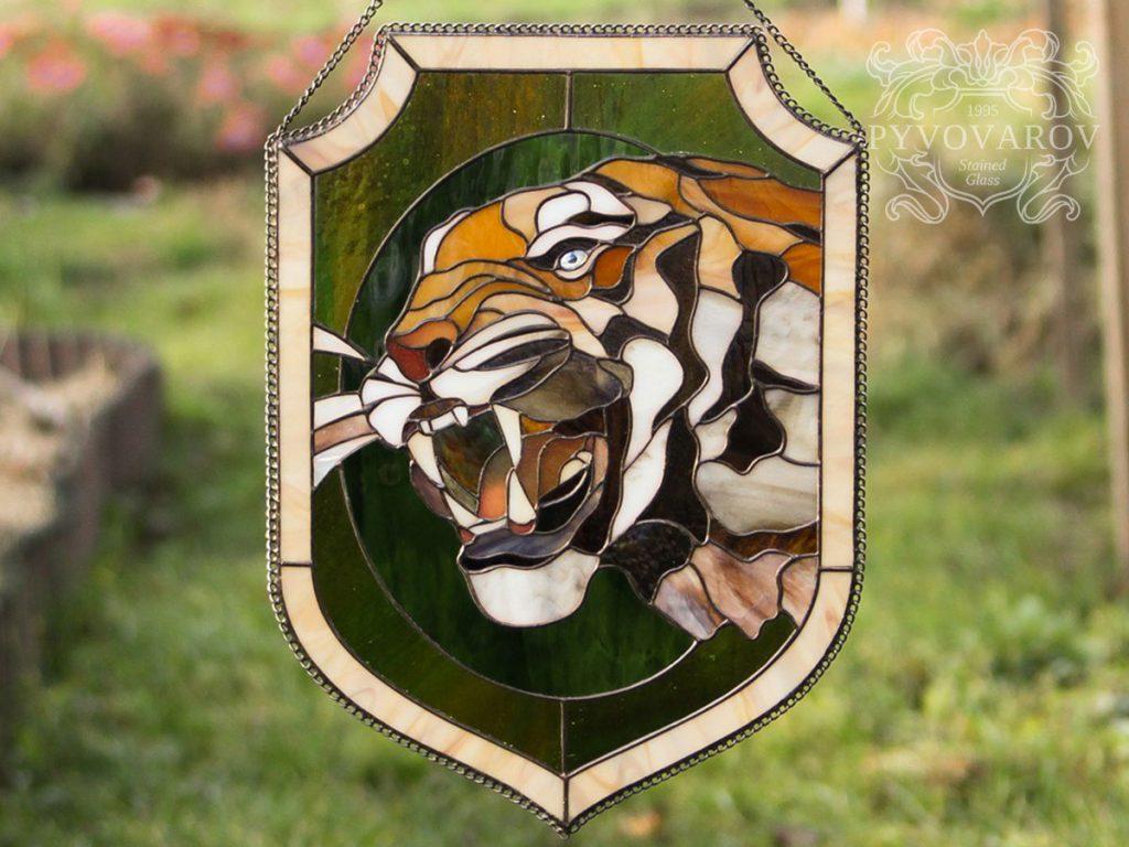 Витражный вымпел «Тигр» #VO-0285
