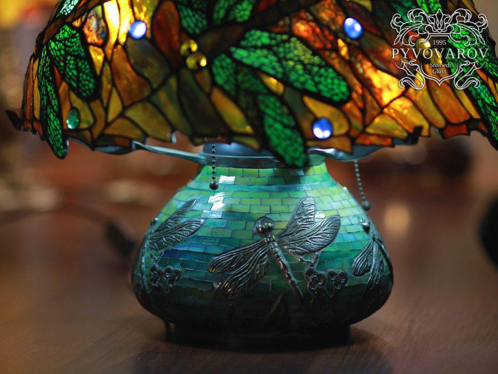 Витражный светильник Тиффани «Dragonfly» #L-0107