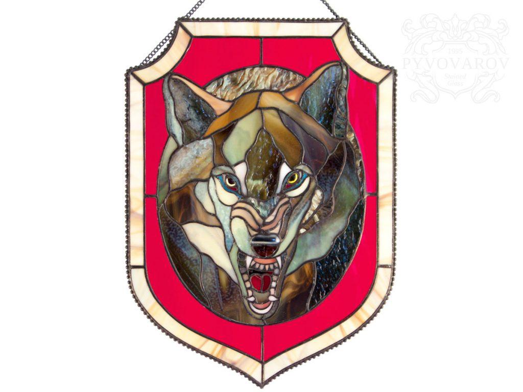 Витражный вымпел «Волк» #VO-0287