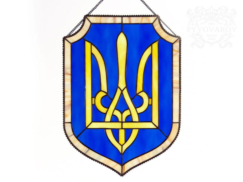 Витражный вымпел «Тризуб» #VO-0289