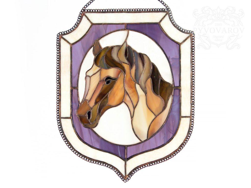 Витражный вымпел «Лошадка» #VO-0293