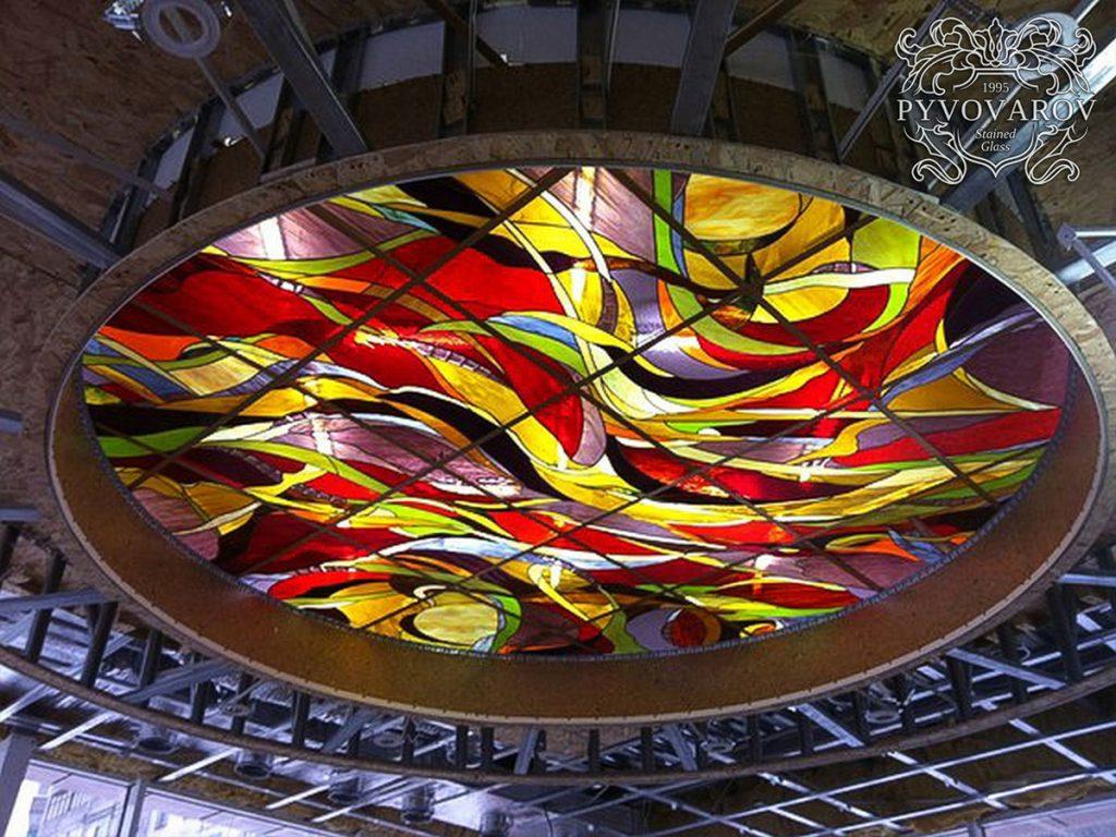 Витражный потолок #VP-0136