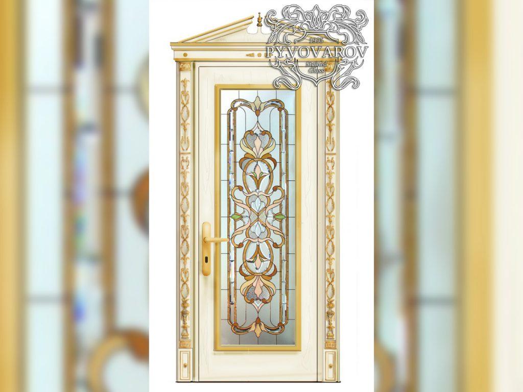 Витражная дверь #VD-0133