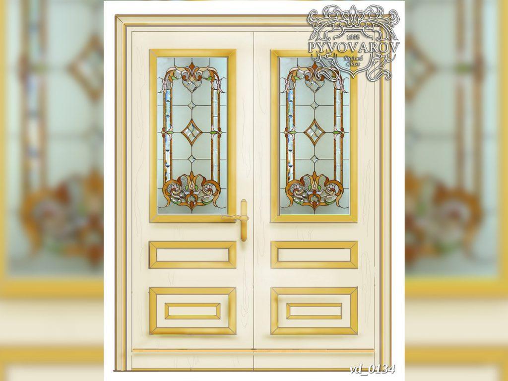 Витражная дверь #VD-0134