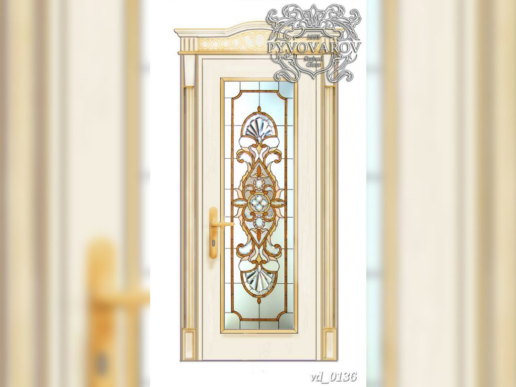 Витражная дверь #VD-0136
