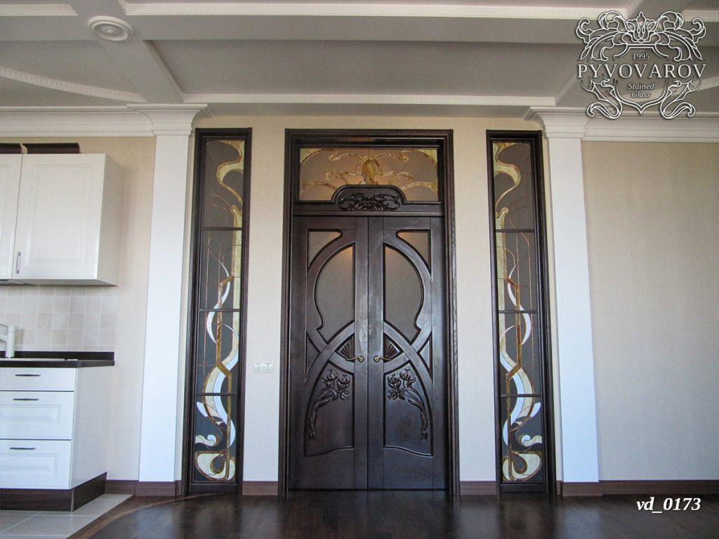 Витражная дверь #VD-0173
