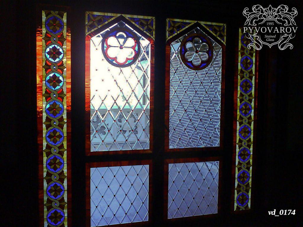 Витражная дверь #VD-0174