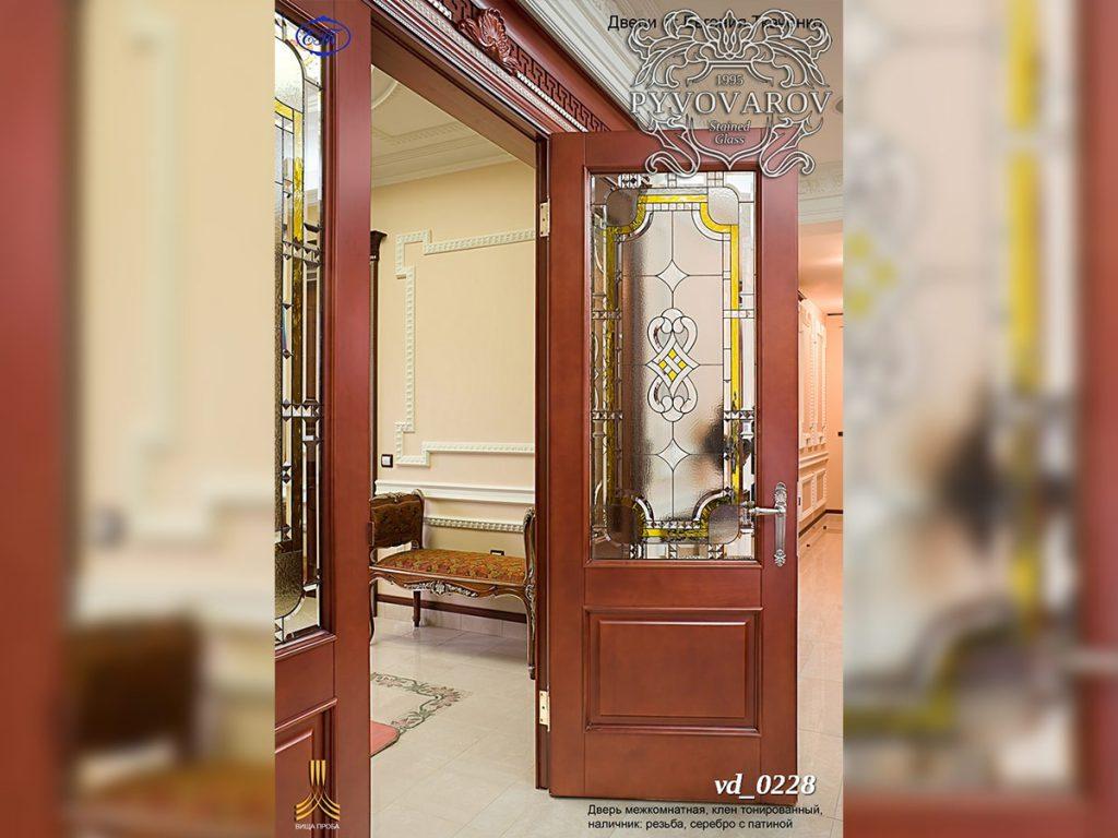 Витражная дверь #VD-0228