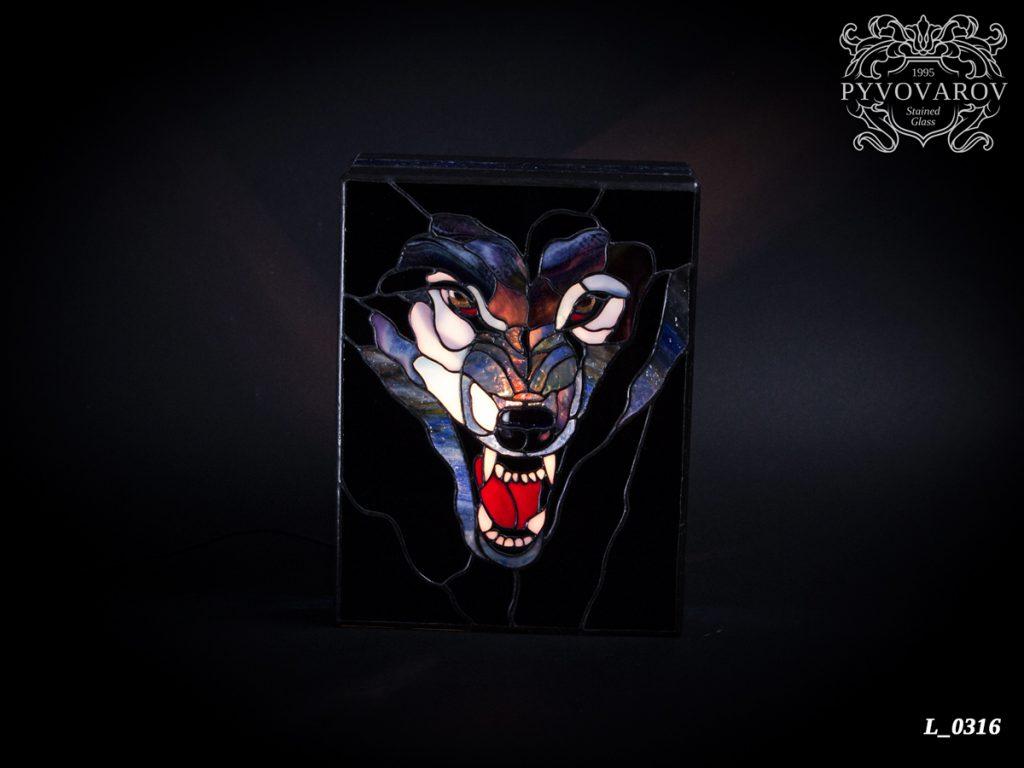 светильник тиффани «Волк» #L-0316