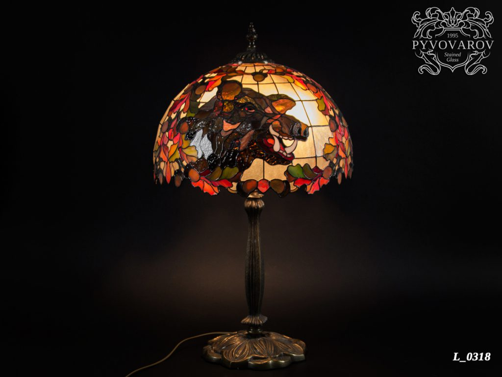 светильник тиффани «Вепрь» #L-0318