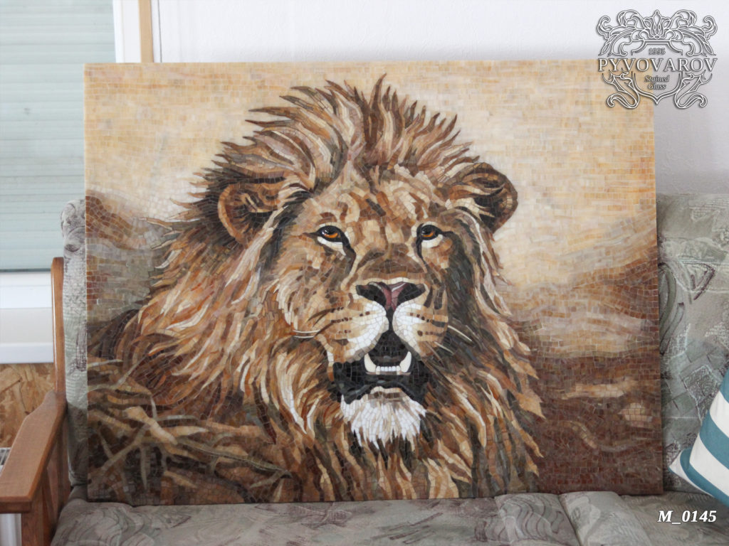 лев мозаика