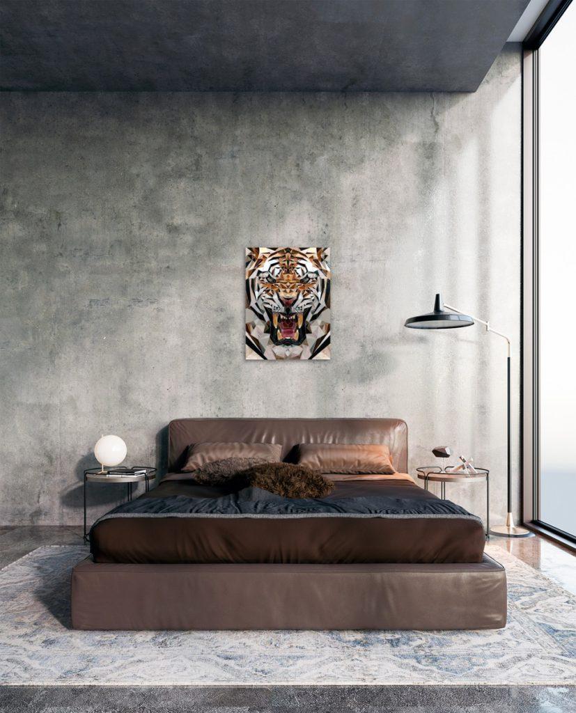 тигр мозаика