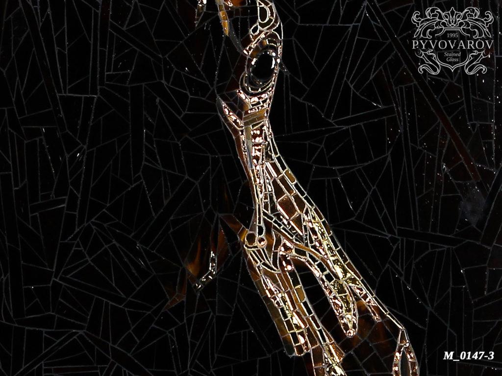Мозаика «Силуэт лошади» #M-0147