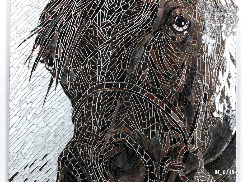 Мозаика из зеркала «Голова лошади» #M-0148