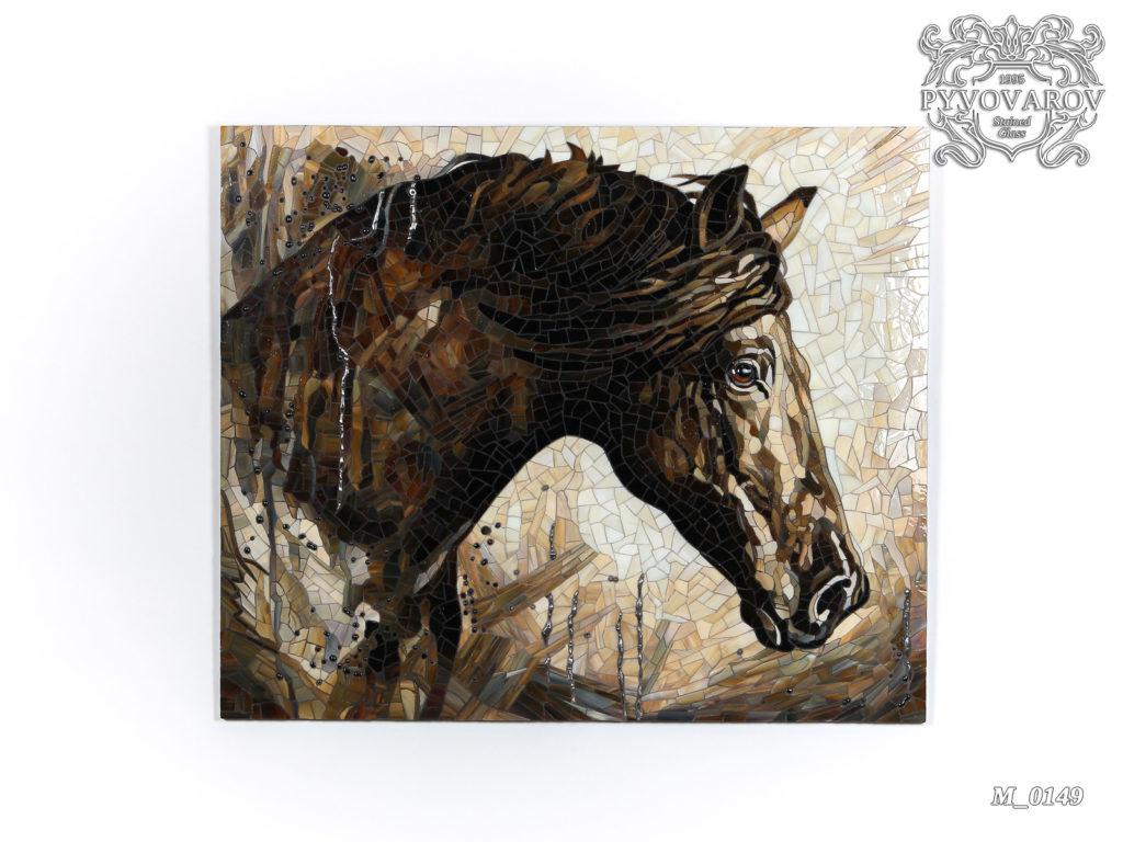 Мозаика «Лошадь под дождем» #M-0149