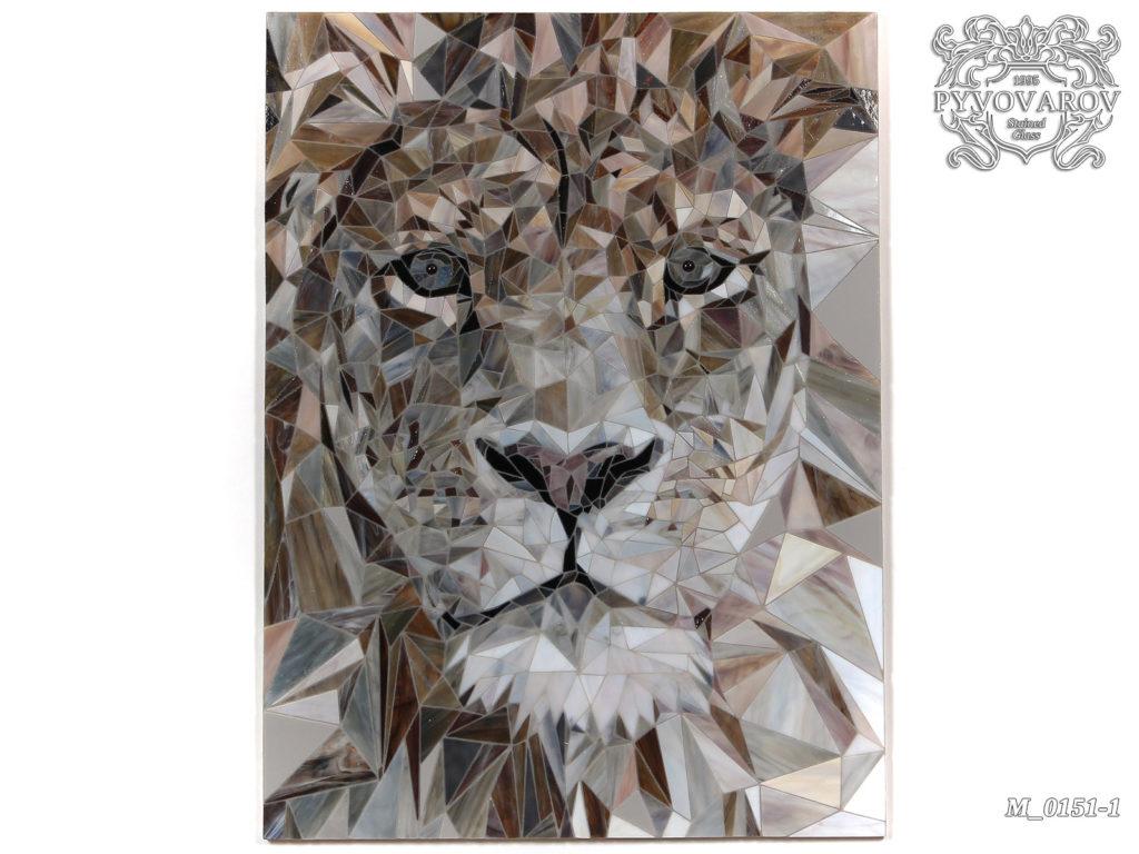 Мозаика «Лев» #M-0151