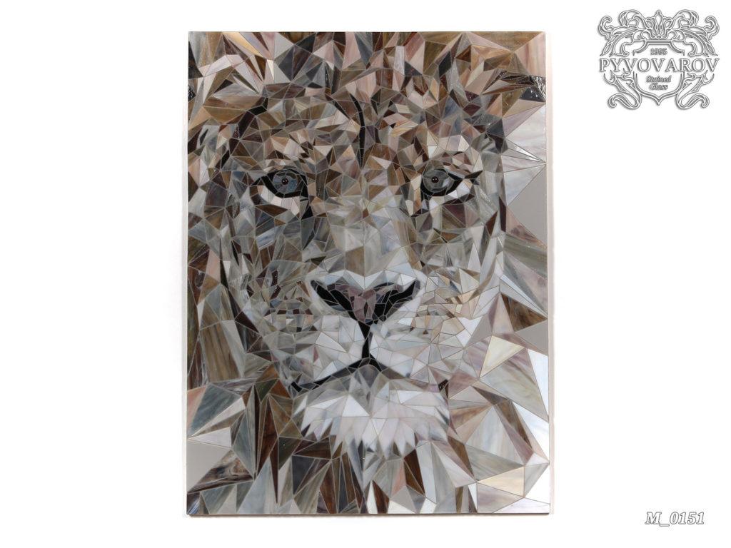 мозаика лев
